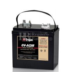 Batería Trojan 6V-AGM  6 Voltios 200 Amperios C20  261 x 180 x 273mm