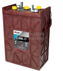 Batería Trojan L16RE-2V Plomo abierto 2 Voltios 1.235 Amperios C100 295 x 178 x 450mm