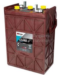 Batería Trojan L16RE-B Plomo abierto 6 Voltios 370 Amperios C20 296 x 177 x 446mm