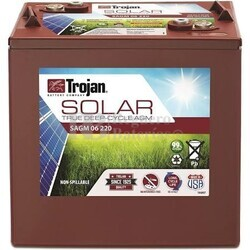 Batería Trojan Solar AGM SAGM 06 220 6 Voltios 220 Amperios C20 262 x 179 x 273mm