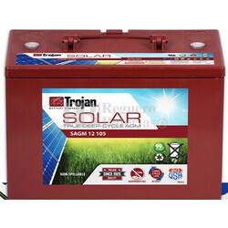 Batería Trojan Solar AGM SAGM 12 105 12 Voltios 105 Amperios C20 325 x 173 x 237mm