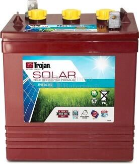 Batería Trojan SPRE 06 255 6 Voltios 229 Amperios C20 262 x 181 x 298mm