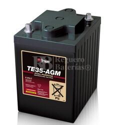 Batería Trojan TE35-AGM 6 Voltios 243 Amperios C20  244 x 188 x 275mm