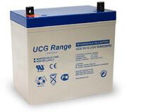 Batería de Gel 12 Voltios 55 Amperios ULTRACELL UCG55-12