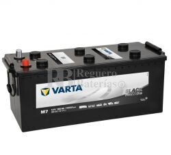 Batería VARTA 12 Voltios 180 Ah Promotive Black 680 033 110 Ref.M7 EN 1100A 513X223X223