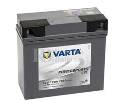 Bater�a para Moto VARTA 12 Voltios 19 Ah en C10 PowerSports Gel Ref.519901017 EN 170 A 186x82x173