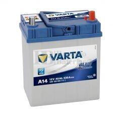 Batería VARTA 12 Voltios 40 Ah Blue Dynamic 540 126 033 Ref.A14 EN 330A 187X127X227