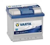 Batería VARTA 12 Voltios 52 Ah Blue Dynamic 552 400 047 Ref.C22 EN 470A 207X175X190