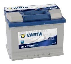 Batería VARTA 12 Voltios 60 Ah Blue Dynamic 560 127 054 Ref.D43 EN 540A 242X175X190