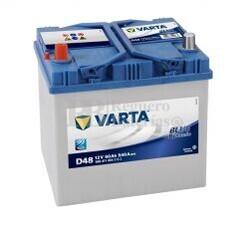 Batería VARTA 12 Voltios 60 Ah Blue Dynamic 560 411 054 Ref.D48 EN 540A 232X173X225