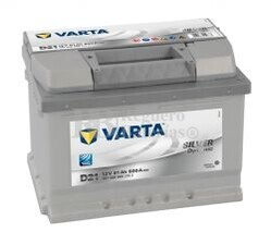 Batería VARTA 12 Voltios 61 Ah Silver Dynamic 561 400 060 Ref. D21 EN 600A 242X175X175