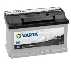 Batería VARTA 12 Voltios 70 Ah Black Dynamic 570 144 064 Ref.E9 EN 640A 278X175X175