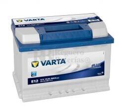 Batería VARTA 12 Voltios 74 Ah Blue Dynamic 574 013 068 Ref.E12 EN 680A 278X175X190