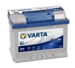 Batería VARTA START-STOP 12 Voltios 60 Ah Blue Dynamic EFB 560 500 056 Ref.D53 EN 560A 242X175X190