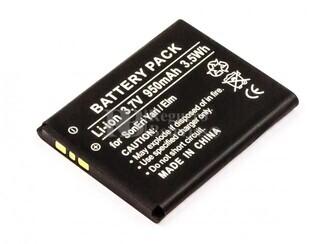Bateria Yari, Elm, Li-ion, 3,7V, 950mAh, 3,5Wh, para telefonos Sony Ericsson