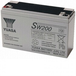 Bateria Yuasa Alta Descarga SW200 12 Voltios 5,9 Amperios 151x51x97,5 mm