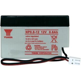 Batería 12 Voltios 0,8 Amperios YUASA NP0.8-12Y