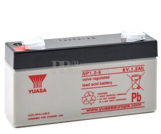 Bateria Yuasa NP1.2-6  6 Voltios 1,2 Amperios 97 x 25 x 54,5 mm