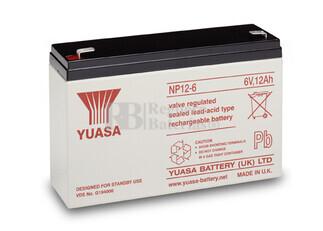 Batería  6 Voltios 12 Amperios YUASA NP12-6Y
