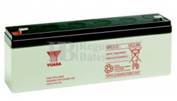 Batería 12 Voltios 2,3 Amperios YUASA NP2.3-12Y