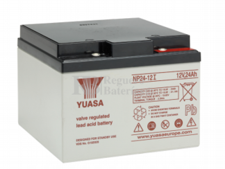 Bateria Yuasa NP24-12  12 Voltios 24 Amperios 166 x 175 x 125 mm