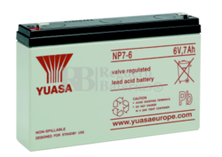 Batería  6 Voltios 7 Amperios YUASA NP7-6