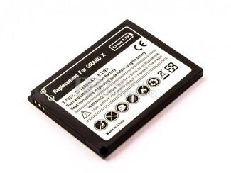 Batería para ZTE Grand X, Li-ion, 3,7V, 1400mAh, 5,2Wh
