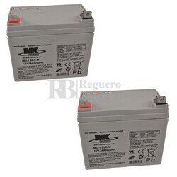 2 Baterías 12 Voltios 35 Amperios MK MU1SLD-M2