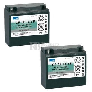 Baterías Silla Movilidad 12 Voltios 14 Amperios Gel Dryft GF1214YF