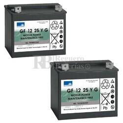 Baterías Sillas de Movilidad 12V 28A Gel Dryfit GF12025YG Sonnenschein