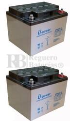 Pack de baterías silla movilidad 12 Voltios 40 Amperios