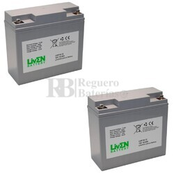 Baterías de Litio Silla Movilidad 12 Voltios 18 Amperios LVIF18-12