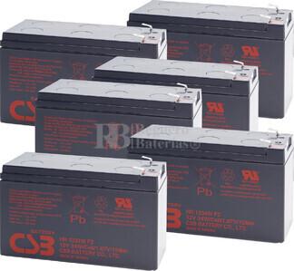 Reemplazo de 6 baterías HR1234WF2 para SAI-UPS