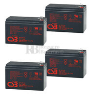 Baterías CSB GP1272 para SAI Pack 4 Baterías