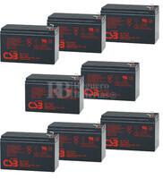 Reemplazo baterías CSB GP1272 para SAI pack 8 Baterías