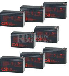 Baterías de reemplazo CSB GP1272 para SAI ( Pack 8 Baterías )