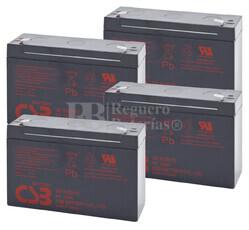 Baterías de reemplazo CSB GP6120 para SAI ( Pack 4 Baterías )