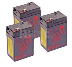 Baterías de reemplazo CSB GP645 para SAI ( Pack 3 Baterías )
