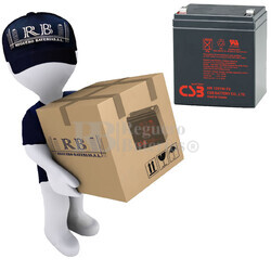 Baterías de reemplazo CSB HR1221W para SAI ( Pack 16 Baterías )