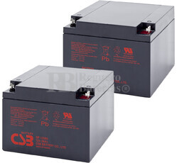 Baterías de reemplazo para SAI APC ( Pack 2 Baterías ) 2XGP12260