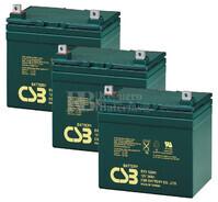 Baterías de reemplazo para SAI ( Pack 3 Baterías ) 3XEVX12340
