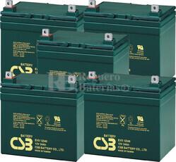 Baterías de reemplazo para SAI ( Pack 5 Baterías ) 5XEVX12340