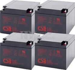 Baterías de reemplazo para SAI APC ( Pack 4 Baterías ) 4XGP12260