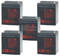 Baterías para SAI pack 5 Baterías HR1221WF2