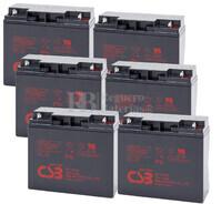 Baterías para SAI  Pack 6 Unidades GP12170