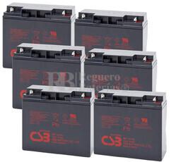 Baterías de reemplazo para SAI ( Pack 6 Baterías ) 6XGP12170
