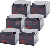 Baterías para SAI APC Pack 6 Baterías 6XGP12260