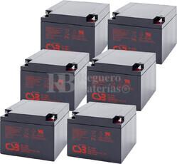 Baterías de reemplazo para SAI APC ( Pack 6 Baterías ) 6XGP12260