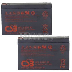 Baterías de sustitución para SAI APC SC250RM1U - APC RBC18
