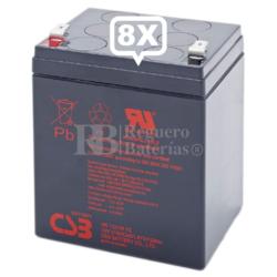 Baterías de sustitución para SAI APC SUA3000RM2U - APC RBC43